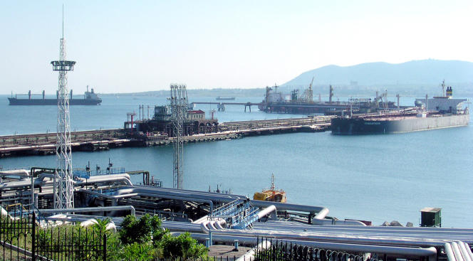 Novorossiysk Oil Terminal, July 13, 2004.