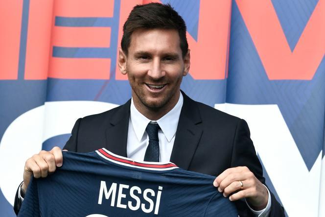 L'attaquant argentin Lionel Messi, à Paris, le 11 août 2021.