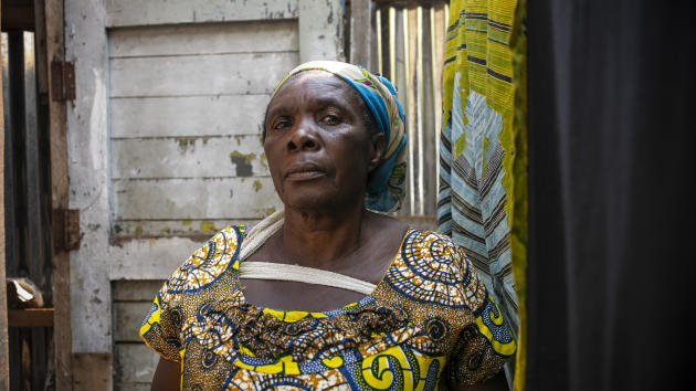 «Maman Véro», doyenne et présidente de la mutuelle de solidarité féminine Mungu anakupenda, à Panzi, le 25 juin 2021.