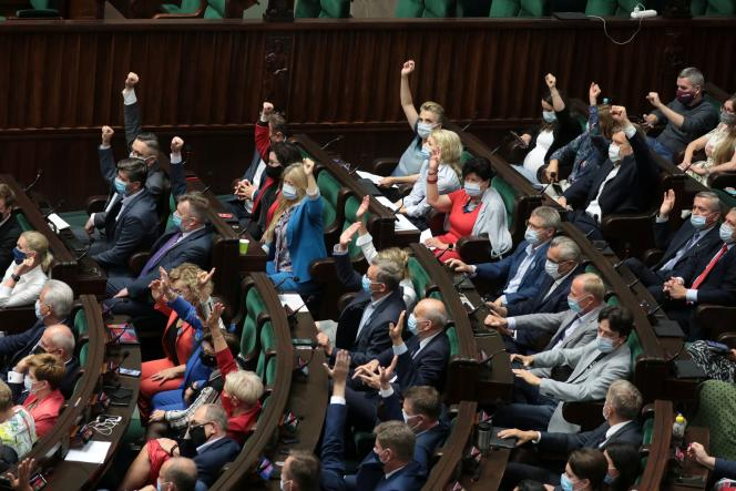 Warsaw, Poland Parliamentary Session of Poland, Wednesday, August 11, 2021.
