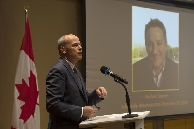 Jim Nickel, in-charge of the Canadian Embassy in China, spoke at the Canadian Embassy in Beijing on Wednesday, August 11, 2021, about his comrade's fate.