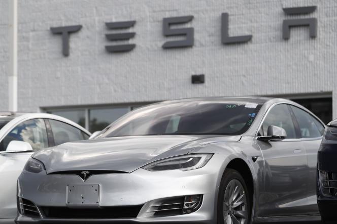 Un modèle S de Tesla, photographié le 9 juillet 2018 à Littleton, Colorado (Etats-Unis).