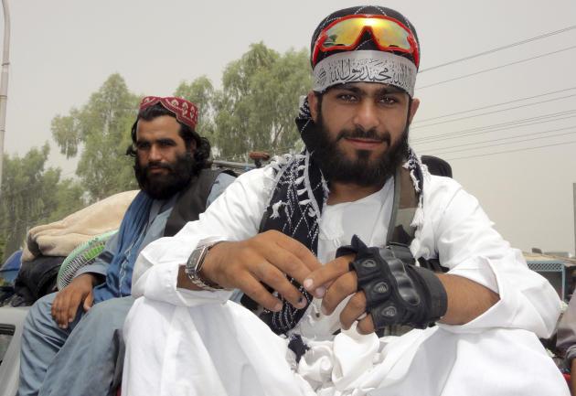 Des talibans à Kandahar, dans le sud de l'Afghanistan, le 15août2021.