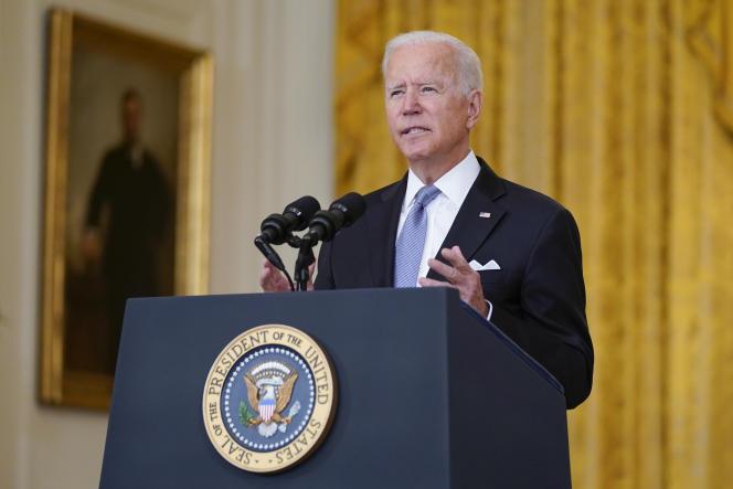 Joe Biden spoke at the White House on August 16, 2021.