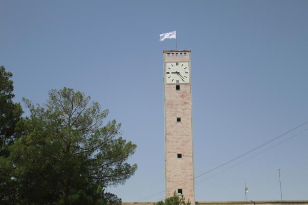 Un drapeau taliban flotte sur la tour du bureau provincial de Herat, le 14août2021.