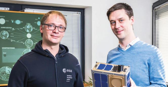 Les fondateurs de la start-up Unseenlabs, Jonathan et Clément Galic, en mars 2021.