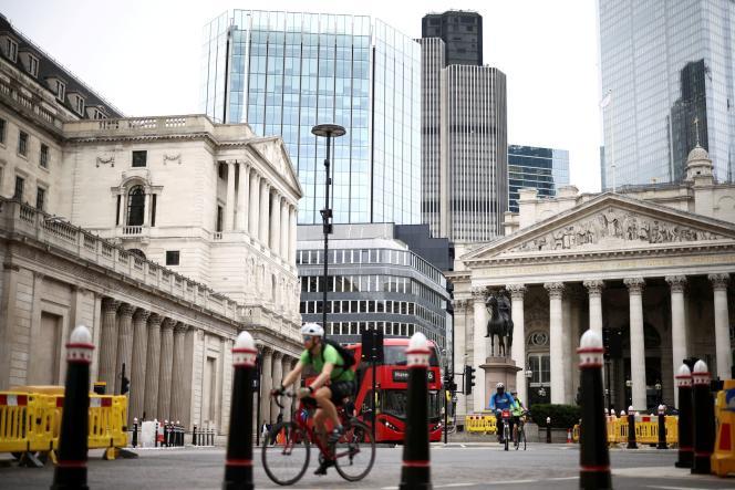 A la City, quartier des affaires de Londres, le 11 juin 2021.