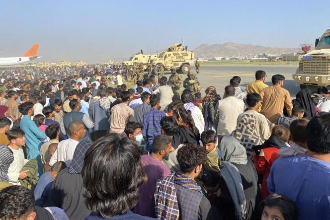 L'aéroport international de Kaboul constitue désormais la seule porte de sortie du pays.