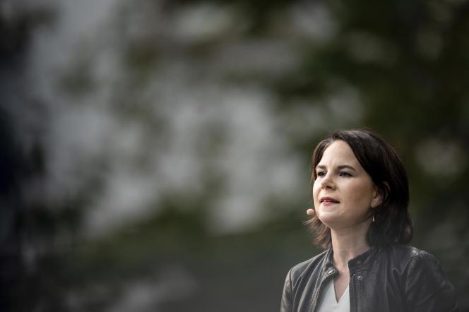 Annalena Baerbock, candidate des Verts pour la chancellerie allemande, à Duisburg, le 10 août 2021.