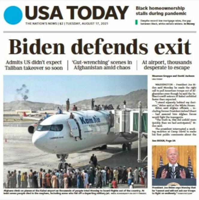 «USA Today», mardi 17 août.