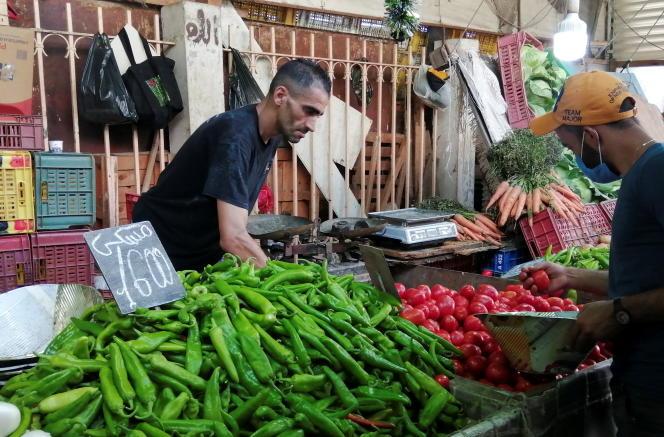 Au marché de Sidi Bahri, à Tunis, le 12août 2021.