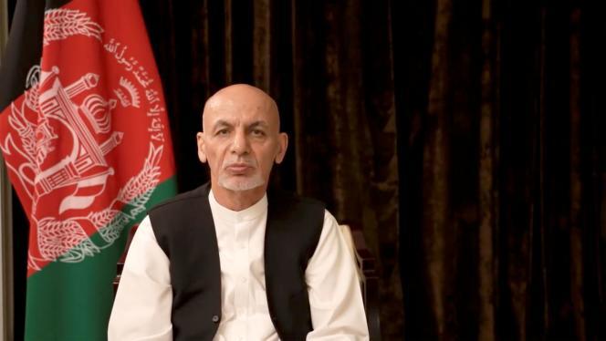 Tangkapan layar dari intervensi mantan Presiden Ashraf Ghani, diposting di Facebook pada Rabu, 18 Agustus 2021.