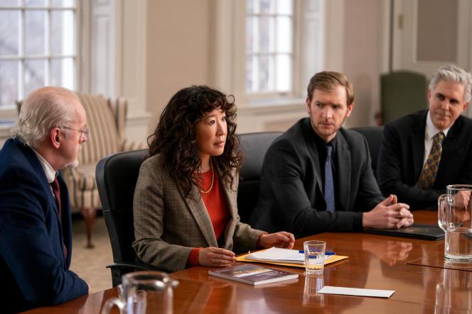 De izquierda a derecha: David Morse, Sandra Oh, Cliff Chamberlain e Ian Lithgow, en