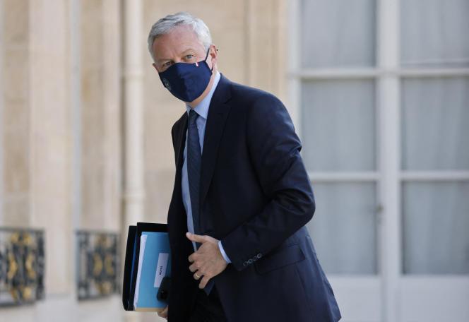Le ministre de l'économie, Bruno Le Maire, le 19 juillet au palais de l'Elysée.