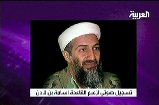 بن لادن في فيلم بثته قناة العربية السعودية في 15 أبريل 2004.