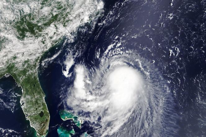 Tropical storm Henry moves toward the east coast of the United States on August 20, 2021.