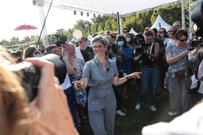 Sandrine Rousseau, lors de la deuxième journée des journées écologistes de Poitiers,le 20 août 2021.