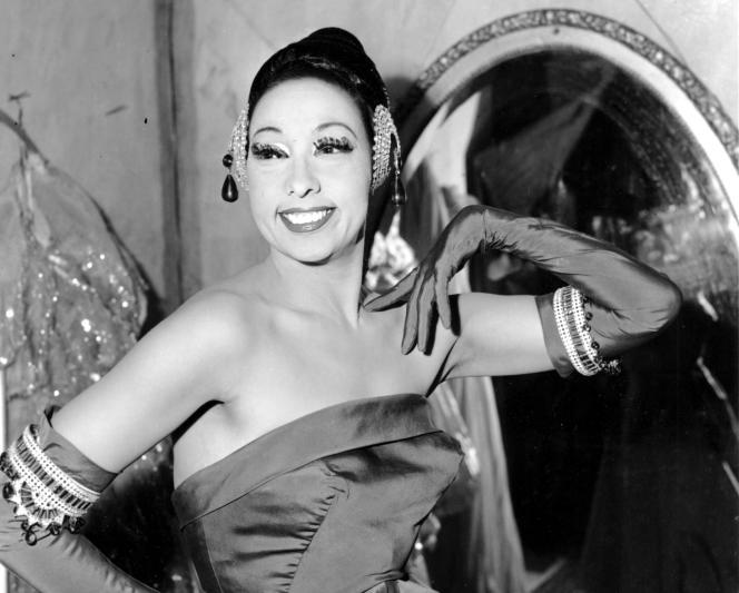 Joséphine Baker au Strand Theater à New York, le 6 mars 1961.
