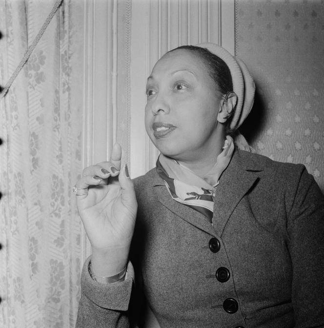 Josephine Baker, Amsterdam, maart 1954.