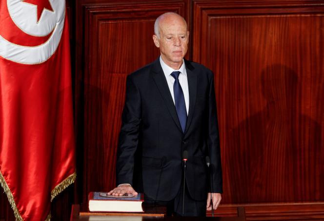 Presidente Kaïs Saïed, 23 de octubre de 2019, en Túnez.