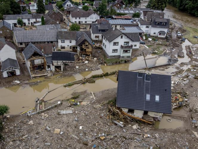 Many homes in Schultz were swept away by flooding in the Ahr River in mid-July in West Germany.