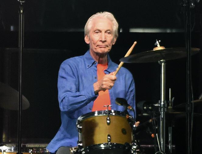 Penampilan drummer Rolling Stones Charlie Watts pada 22 Agustus 2019 di Pasadena, dekat Los Angeles, California.