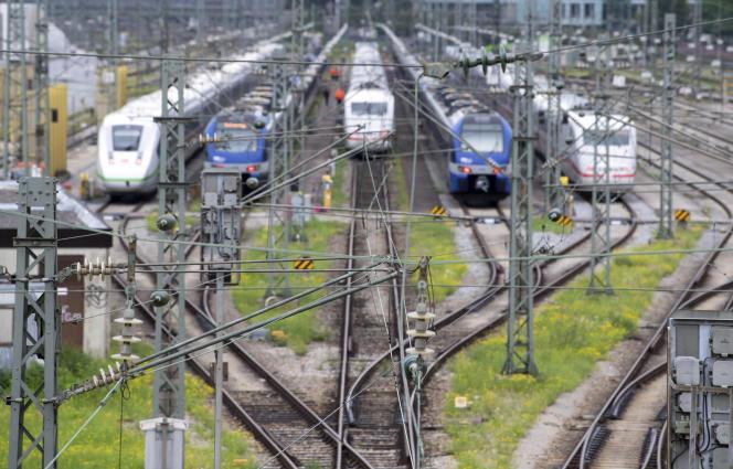 A la gare de Munich (sud de l'Allemagne), le 24 août 2021.