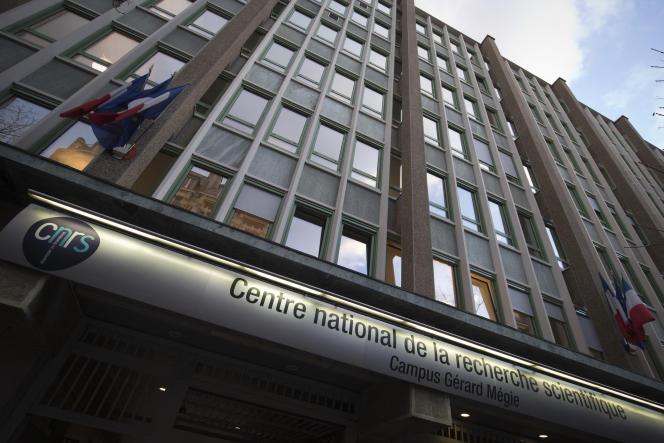 Le siège du Centre national de la recherche scientifique (CNRS) est photographié à Paris, le 11 février 2016.