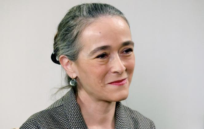 Delphine Ernotte, la patronne de France Télévisions, à Saint-Denis (Seine-Saint-Denis), près de Paris, le 4 mars 2021.