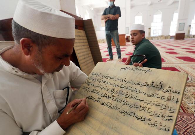 Dans la madrassa (école d'enseignement coranique) de la zaouïa Al-Asmariya, à Zliten, à 150 kilomètres de Tripoli, la capitale libyenne.