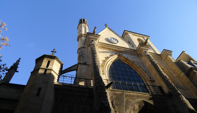 La façade de l'église Saint-Merry, à Paris.