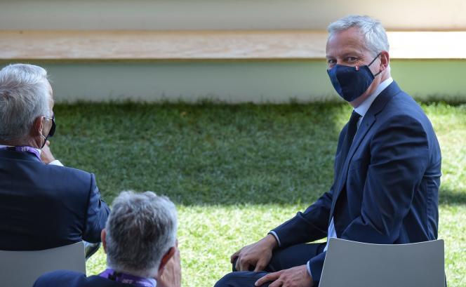 Il ministro dell'Economia, Bruno Le Maire, all'Università del Medef, all'ippodromo di Longchamp, a Parigi, il 25 agosto 2021.