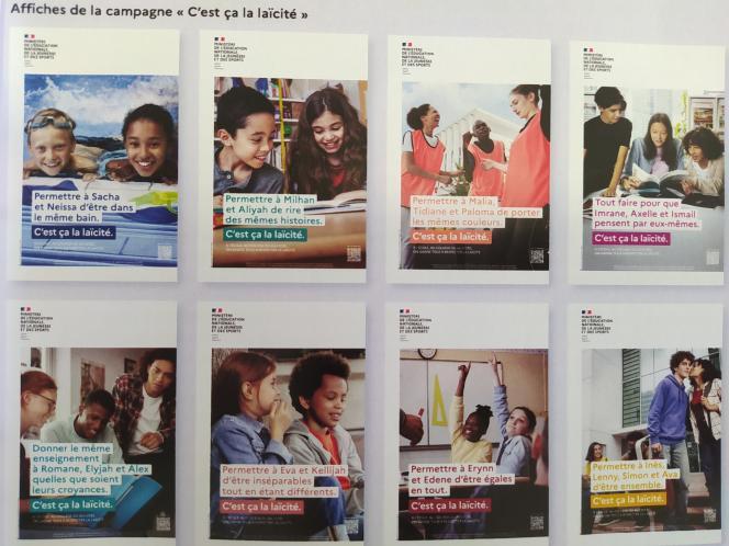 Cette campagne de communication du gouvernement en faveur de la laïcité doit être diffusée dans les établissements scolaires.