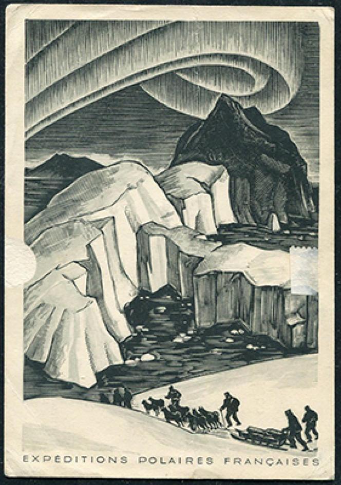 Côté vue de la carte de remarciement de 1950 des EPF au Groenland (doc. Philatélie passion).