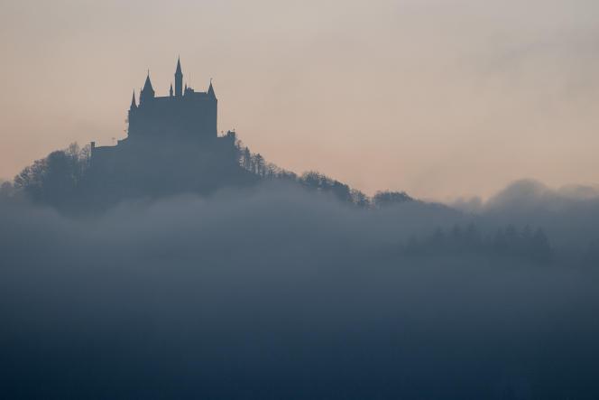 El castillo de Hohenzollern en Bisingen, sur de Alemania, 22 de enero de 2020.