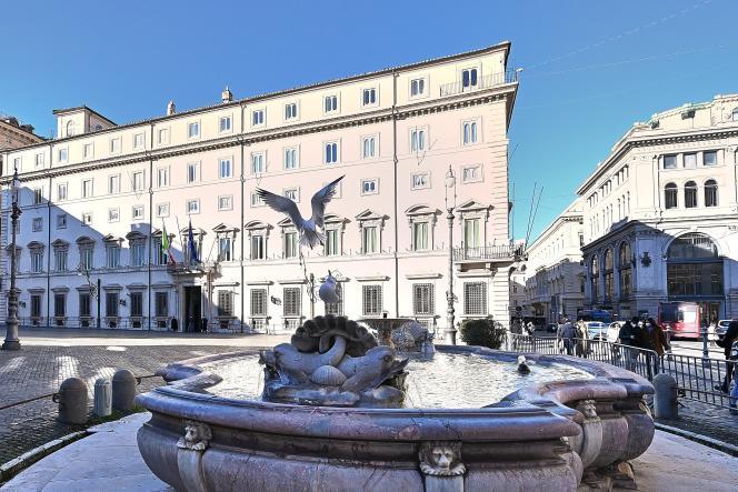 Palácio Siki, Local do Governo da Itália, 16 de janeiro de 2021.