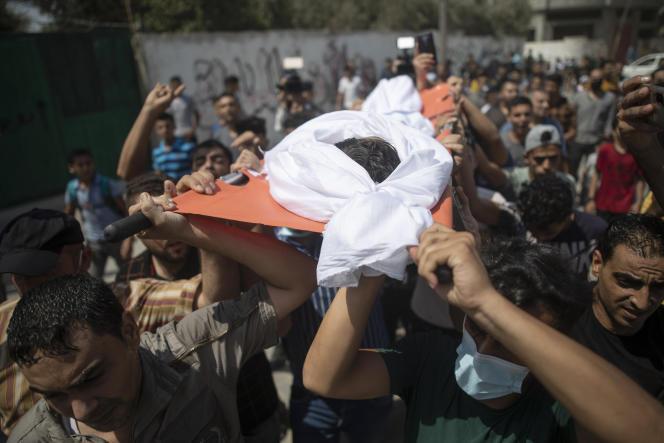 Les obsèques d'Omar Al-Nile, 12 ans, ont eu lieu samedi28août, à Gaza.