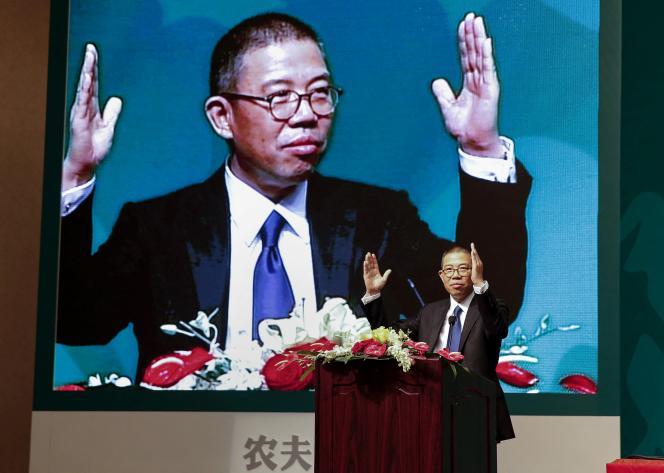 Zhong Shanshan, le fondateur de Nongfu Spring, à Pékin, en 2013.