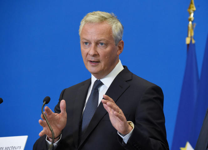Le ministre de l'économie et des finances, Bruno Le Maire, lors d'une conférence de presse, le 30 août 2021.