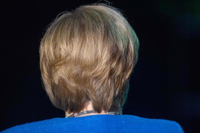 Angela Merkel en el 50 aniversario de la ONG Greenpeace, Stralsund (Mecklemburgo-Pomerania Occidental), 30 de agosto.