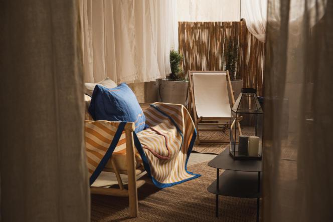 Une terrasse au calme pour profiter des derniers rayons de soleil.