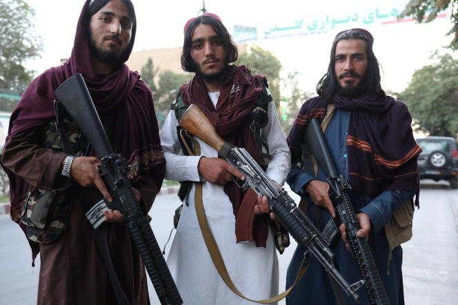 Talebani, 1 settembre 2021, per le strade di Kabul.
