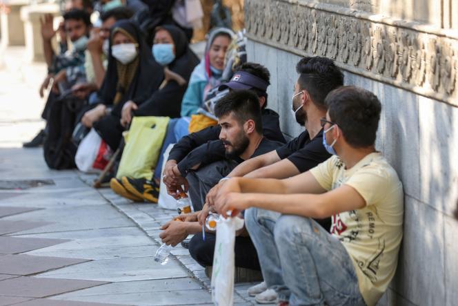 Des réfugiés afghans en Iran, le 1er septembre.