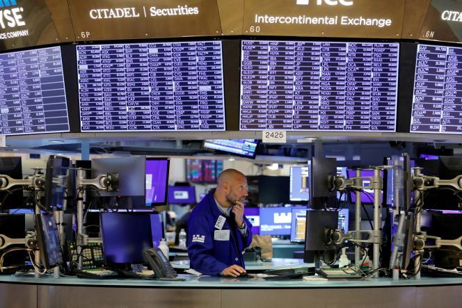 A la Bourse de New York, le 9 août 2021.