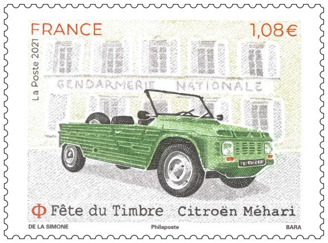 Citroën Méharin de Albin de la Simone, diseño de Sophie Beaujard, grabado de Pierre Parra.  Venta pública 27 de septiembre.  Preventa en 80 ciudades de Francia, del 25 al 26 de septiembre.