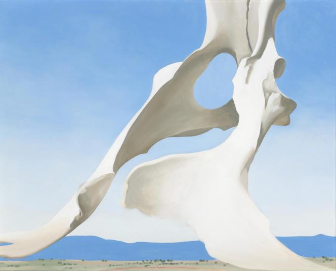 Georgia O'Keeffe, «Pelvis With Distance» (1943). Huile sur toile.