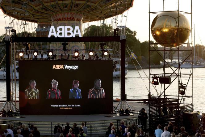 Le groupe de pop suédois ABBA a présenté, jeudi 2septembre, «Voyage», son neuvième album.