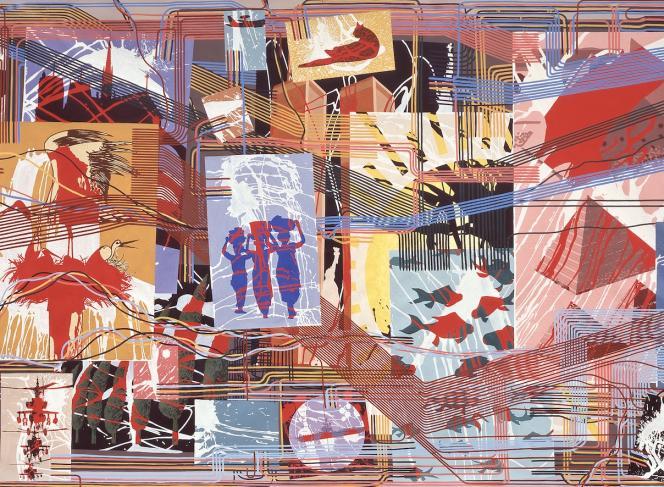 Gérard Fromanger, « De toutes les couleurs, peinture d'histoire», détail (1991-1992).Centre national des arts plastiques, Paris.