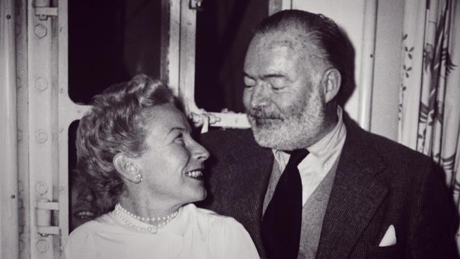 Mary Welsh et Ernest Hemingway.
