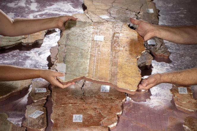 Les peintures de la pièce d'apparat de la« maison de la harpiste»seront étudiées en2022.
